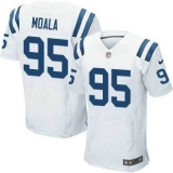 Nike Indianapolis Colts #95 Moala Jerseys White Elite Road Jersey
