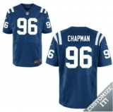 Nike Indianapolis Colts #96 Chapman Jerseys Blue Elite Home Jersey