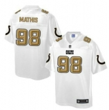 Nike Indianapolis Colts #98 Robert Mathis White Men\'s NFL Pro Line Fashion Game Jersey