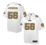 Nike Kansas City Chiefs #56 Derrick Johnson White Men\'s NFL Pro Line Fashion Game Jersey