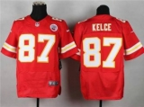 Nike Kansas City Chiefs #87 Travis Kelce Red Team Color NFL Elite Jersey