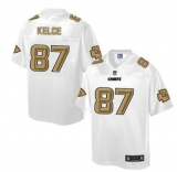 Nike Kansas City Chiefs #87 Travis Kelce White Men\'s NFL Pro Line Fashion Game Jersey