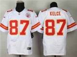 Nike Kansas City Chiefs #87 Travis Kelce White NFL Elite Jersey