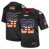 Nike Kansas City Chiefs #92 Dontari Poe Black NFL Elite USA Flag Fashion Jersey