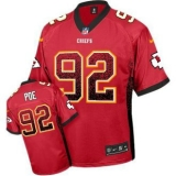 Nike Kansas City Chiefs #92 Dontari Poe Red Team Color Stitched NFL Elite Drift Fashion Jersey