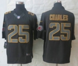 Nike NFL Kansas City Chiefs 25 Jamaal Charles Black Jerseys(Impact Limited)