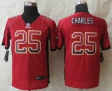 Youth Nike Chiefs #25 Jamaal Charles Red Team Color NFL Elite Drift Fashion Jersey