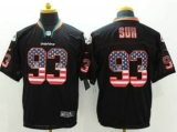 Nike Miami Dolphins #93 Ndamukong Suh Black Men\'s Stitched NFL Elite USA Flag Fashion Jersey