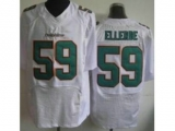 Nike Miami Dolphins 59 Dannell Ellerbe Elite White NFL Jersey