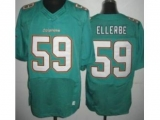 Nike Miami Dolphins 59 Dannell Ellerbe Elite Green NFL Jersey