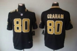Nike Saints #80 Jimmy Graham Black Team Color Men\'s Stitched NFL Limited Jersey