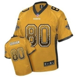 Nike Saints #80 Jimmy Graham Gold Men\'s Stitched NFL Elite Drift Fashion Jersey