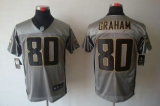 Nike Saints #80 Jimmy Graham Grey Shadow Men\'s Stitched NFL Elite Jersey