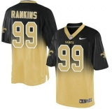 Nike Saints #99 Sheldon Rankins Black Gold Men\'s Stitched NFL Elite Fadeaway Fashion Jersey