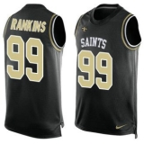 Nike Saints #99 Sheldon Rankins Black Team Color Men\'s Stitched NFL Limited Tank Top Jersey