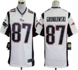 Nike Patriots #87 Rob Gronkowski White Men\'s Stitched NFL Game Jersey