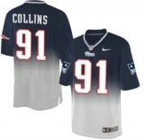 Nike Patriots #91 Jamie Collins Navy Blue Grey Men\'s Stitched NFL Elite Fadeaway Fashion Jersey