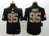 Nike Patriots #95 Chandler Jones Black NFL Limited Salute to Service Jersey