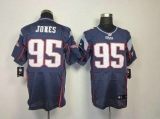 Nike Patriots #95 Chandler Jones Navy Blue Team Color Men\'s Stitched NFL Elite Jersey