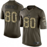 Nike New York Jets #80 Wayne Chrebet Green Men\'s Stitched NFL Limited Salute to Service Jersey