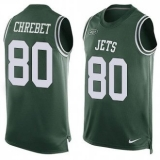 Nike New York Jets #80 Wayne Chrebet Green Team Color Men\'s Stitched NFL Limited Tank Top Jersey