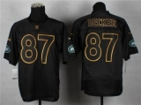 Nike New York Jets #87 Eric Decker Black Gold No