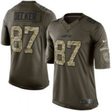 Nike New York Jets #87 Eric Decker Nike Green Salute To Service Limited Jersey