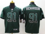 Nike New York Jets #91 Sheldon Richardson Green Team Color Men\'s Stitched NFL Elite Drift Fashion Jersey