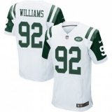 Nike New York Jets #92 Leonard Williams White Stitched NFL Elite Jersey