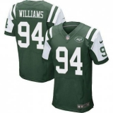 Nike New York Jets #94 Leonard Williams Green Team Color Men\'s Stitched NFL Elite jersey