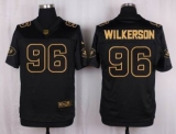 Nike New York Jets #96 Muhammad Wilkerson Black Men\'s Stitched NFL Elite Pro Line Gold Collection Jersey