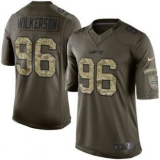 Nike New York Jets #96 Muhammad Wilkerson Nike Green Salute To Service Limited Jersey