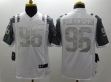 Nike New York Jets #96 Muhammad Wilkerson White NFL Limited Platinum Jersey