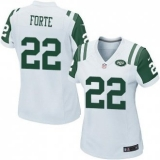 Women Nike Jets #22 Matt Forte White Stitched NFL Elite Jersey