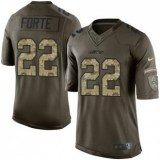 Youth Nike Jets #22 Matt Forte Green Stitched NFL Limited Salute to Service Jersey