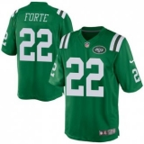 Youth Nike Jets #22 Matt Forte Green Stitched NFL Elite Rush Jersey