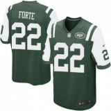 Youth Nike Jets #22 Matt Forte Green Team Color Stitched NFL Elite Jersey