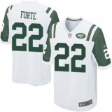 Youth Nike Jets #22 Matt Forte White Stitched NFL Elite Jersey