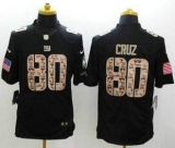 Nike New York Giants #80 Victor Cruz Black NFL Limited Salute to Service jersey