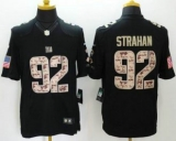 Nike New York Giants #92 Michael Strahan Black Men\'s Stitched NFL Limited Salute to Service Jersey