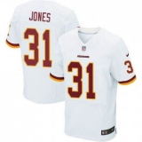 Nike Washington Redskins #31 Matt Jones White Men\'s Stitched NFL Elite Jersey