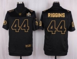 Nike Washington Redskins #44 John Riggins Black Men\'s Stitched NFL Elite Pro Line Gold Collection Jersey