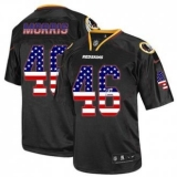 Nike Washington Redskins #46 Alfred Morris Black NFL Elite USA Flag Fashion Jersey