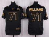 Nike Washington Redskins #71 Trent Williams Black Men\'s Stitched NFL Elite Pro Line Gold Collection Jersey