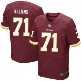 Nike Washington Redskins #71 Trent Williams Burgundy Red Team Color Men\'s Stitched NFL Elite Jersey