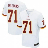 Nike Washington Redskins #71 Trent Williams White Men\'s Stitched NFL Elite Jersey