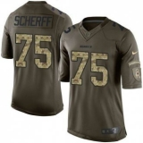 Nike Washington Redskins #75 Brandon Scherff Green Men\'s Stitched NFL Limited Salute to Service Jersey