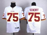 Nike Washington Redskins #75 Brandon Scherff White Men\'s Stitched NFL Elite Jersey