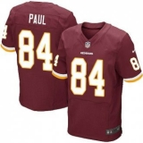 Nike Washington Redskins #84 Niles Paul Burgundy Red Team Color NFL Elite Jersey