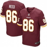 Nike Washington Redskins #86 Jordan Reed Burgundy Red NFL Elite Jersey